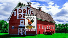 Load image into Gallery viewer, Chicken Garden Flag, Personalized, Garden Flag, Name Garden Flag, Welcome Chicken Flag, Farm Life, Farm Yard Flag, Yard Decoration, Ranch