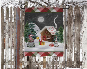 Christmas Gnomes Personalized Garden Flag, Holiday Garden Flag, Outdoor Christmas Decoration, Custom Christmas Flag, Gnome Flag, Holiday