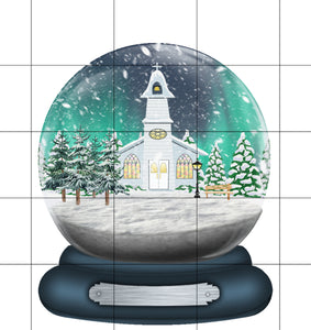 Little White Church Snow Globe Christmas Ornament, Personalized Custom Name Christmas Holiday, Gift for Mom, Grandma Gift, Family Gift