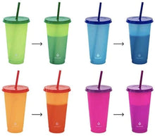 Load image into Gallery viewer, Custom Color Changing 24 oz. Tumblers, Thermal Tumbler with Name, Personalized Cup, Color Changing, Pool Cups, Summer Cup, Reusable Cup