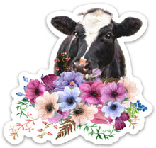 Load image into Gallery viewer, Copy of Goat Flowers Sticker, Goat Lover, Goat Gift, Laptop Sticker, Water Bottle, Goats, Goat Kid Sticker, Tumbler Sticker, Dairy Goat, 4-H