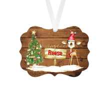 Load image into Gallery viewer, Deer Christmas Tree Personalized Ornament, Name Christmas Ornament, Child Gift, Custom Ornament, Deer Ornament, Kid's Ornament, Deer