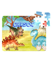 Load image into Gallery viewer, Puzzle, Kids Puzzle, Dinosaur Puzzle, Children's Custom Puzzle, Personalized Puzzle, Educational Toy, Kid Gift, Name Puzzle, Educational