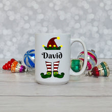 Load image into Gallery viewer, Elf Girl or Elf Boy Kids Personalized Merry Christmas Mug Unique Cup Gift Hot Chocolate Cup for Children Stocking Stuffer Hot Cocoa Mug Kids