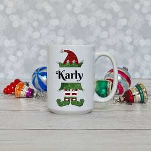 Elf Girl or Elf Boy Kids Personalized Merry Christmas Mug Unique Cup Gift Hot Chocolate Cup for Children Stocking Stuffer Hot Cocoa Mug Kids