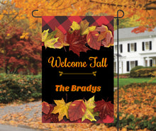 Load image into Gallery viewer, Autumn Leaves Garden Flag, Personalized, Colorful Leaves, Fall Garden Flag, Garden Flag, Fall Decor, Fall Yard Decor, Custom Garden Flag