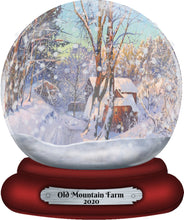 Load image into Gallery viewer, Farmhouse Snow Globe Christmas Ornament, Personalized Ornament, Custom Christmas Holiday, Name Ornament, Gift for Dad, Farm, Farmer