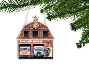 Fire Station/EMS/Paramedic Personalized Ornament, EMS Ornament, Firefighter, Ambulance, EMS Gift, Ambulance Gift, First Responder