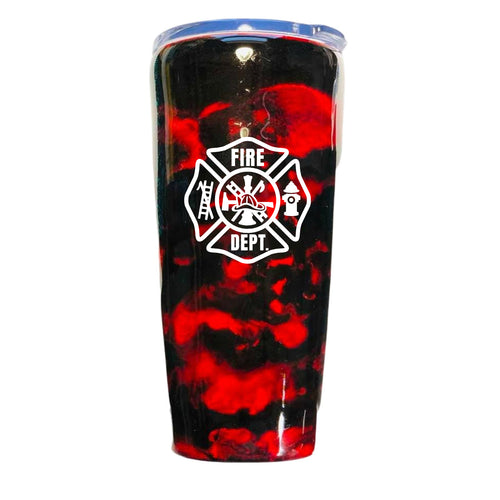 Firefighter Tumbler, Can be Personalized, Fireman Gift, Gift for Man, Dad, Fire Fighter, First Responder, Father's Day, Insulated, 20 oz