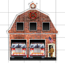 Load image into Gallery viewer, Firehouse Personalized Ornament, Fire Department Ornament, Custom Ornament, Firefighter Gift, Firefighter, Fireman Gift, First Responder