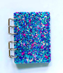Flamingo Glitter Name Personalized Notebook Cover, Handmade Notebook, Teacher Gift, Journal, Teacher Christmas Gift, Notebook