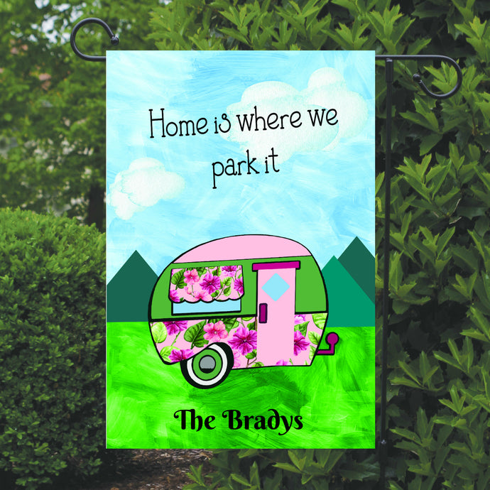 Camping Garden Flag, Camper Garden Flag, Personalized, Name Garden Flag, Camper Decor, Camping Flag, Yard Decoration, Camper Decor
