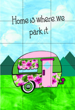 Load image into Gallery viewer, Camping Garden Flag, Camper Garden Flag, Personalized, Name Garden Flag, Camper Decor, Camping Flag, Yard Decoration, Camper Decor