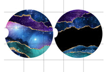 Load image into Gallery viewer, Galaxy Marble Personalized Car Coasters, Galaxy Gift, Personalized Coasters, Sandstone Car Coasters, Car Accessories, Custom Car, Set of 2