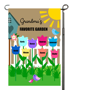 Grandma's Garden Flag, Grandma, Grandparent, Personalized Garden Flag, Custom Garden Flag, Yard Decor, Outdoor Decor, Home Decor, Porch Flag