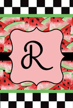 Load image into Gallery viewer, Watermelon Garden Flag, Personalized, Summer Garden Flag, Name Garden Flag, Watermelon Decor, Watermelon Flag, Yard Decor, Yard Decoration