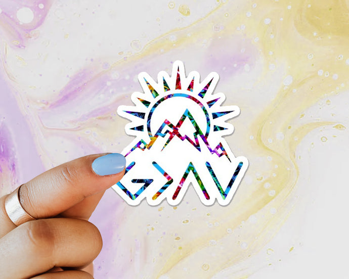 God is Greater Than the Highs and Lows Sticker, Faith, Mountains, Water Bottle, Tumbler, Laptop, Christian Sticker, Inspirational, Believer