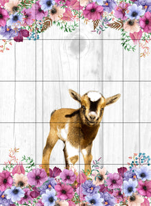 Goat Floral Garden Flag, Personalized, Garden Flag, Name Garden Flag, Goat Decor, Goat Flag, Nigerian Dwarf Goat, Yard Decoration, Ranch