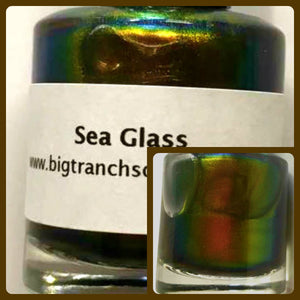 FREE U.S. SHIPPING - Multichrome (Sea Glass) Multi-Color Shifting Polish: Custom-Blended Glitter Nail Polish / Indie Lacquer