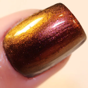 Multichrome (Sand Dollar) Multi-Color Shifting Polish: Custom-Blended Glitter Nail Polish / Indie Lacquer - FREE U.S. SHIPPING