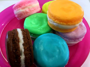 French Macaron Soap - Macaron Soap, Wedding Soap Favors, Party Favors, Kids Soap - Free U.S. Shipping - French Soap, Dessert Soap, Cake Soap