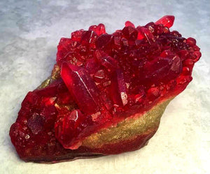 Ruby Red Geode Crystal Gemstone Rock Soap - Pomegranate Scented - FREE U.S. SHIPPING - January Birthday - July Birthday