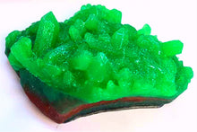 Load image into Gallery viewer, Emerald Green Geode Crystal Gemstone Rock Soap - FREE U.S. SHIPPING - Anniversary Gift - Green Tea and Cucumber or Almond Scented