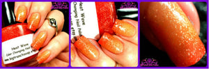 Color Changing Nail Polish - FREE U.S. SHIPPING - Heat Wave-Orange to Yellow - Hand Blended Polish - 0.5 oz Full Sized Bottle