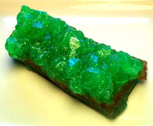 Load image into Gallery viewer, Emerald Green Geode Crystal Mineral Gemstone Rock Soap - Green Tea and Cucumber Scented - Rock Collector - Gemstone - Gem - Bathroom Soap