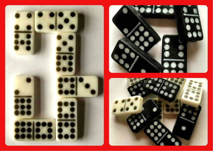 Domino Soap - Dominos - Set of 12 - Actual Size - Game Soap - Free U.S. Shipping - Gift for Mom, Dad, Friend - You Choose Color