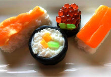 Load image into Gallery viewer, Sushi Soap Set - Food Soap, Gag Gift - Funny Gift - Shrimp - FEATURED in HUFFINGTON POST 2018 - Salmon Roll, Fake Food Soap, Sashim, Nigirii