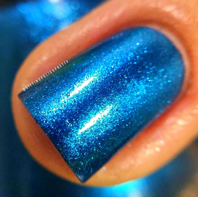Blue Metallic Aluminum Nail Polish -