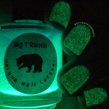 Load image into Gallery viewer, Glow-in-the-Dark Nail Polish - Blue to Green - MOONGLOW - Custom Blended Nail Polish/Lacquer - FREE U.S. SHIPPING
