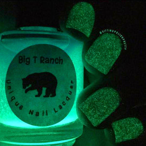 Glow-in-the-Dark Nail Polish - Blue to Green - MOONGLOW - Custom Blended Nail Polish/Lacquer - FREE U.S. SHIPPING