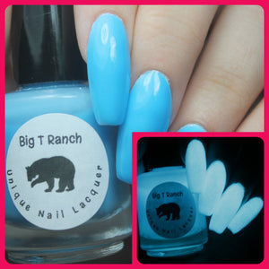 Glow-in-the-Dark Nail Polish - Blue - Little Dipper - Custom Blended - FREE U.S. SHIPPING - Full Sized Bottle (15 ml size)