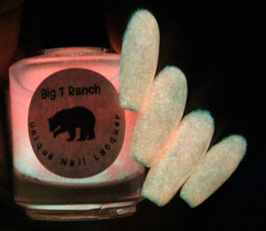 Glow-in-the-Dark Nail Polish - Pink - SUNRISE - FREE U.S. SHIPPING - Nail Polish/Lacquer - Regular Full Sized Bottle (15 ml size)