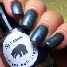 "Load image into Gallery viewer, Magnetic Nail Polish - Blue - ""Sapphire"" - Magnet Included - FREE U.S. SHIPPING - Full Size 15ml Bottle"