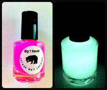 Load image into Gallery viewer, Glow-in-the-Dark Nail Polish - Pink Glows Yellow - ASTEROID - FREE U.S. SHIPPING - Nail Lacquer - Regular Full Sized Bottle (15 ml size)