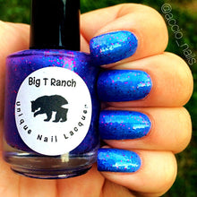 Load image into Gallery viewer, Fairy Dust Blue to Purple Color Changing AND Glow in the Dark Nail Polish - Glows Blue - Mood Nail Polish - FREE U.S. SHIPPING