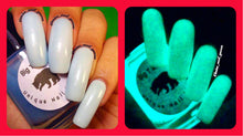 Load image into Gallery viewer, Glow-in-the-Dark Nail Polish - Blue Glows Blue - VENUS - FREE U.S. SHIPPING - Gift for Mom, Sister, Daughter, Friend, Woman