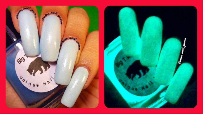 Glow-in-the-Dark Nail Polish - Blue Glows Blue - VENUS - FREE U.S. SHIPPING - Gift for Mom, Sister, Daughter, Friend, Woman