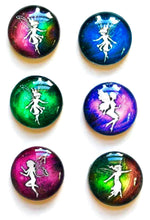 Load image into Gallery viewer, Fairy Magnets - Fairie Magnet - Fairy Party Favor - Fairy Wedding - Free U.S. Shipping - Set of 6 - 1 Inch Domed Glass Circles