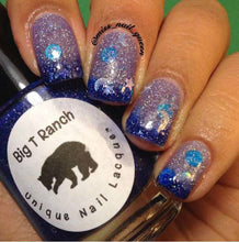 "Load image into Gallery viewer, Color Changing Thermal Nail Polish - ""Starry Night"" - FREE U.S. SHIPPING - Custom Blended Polish/Lacquer - 0.5 oz Full Sized Bottle"