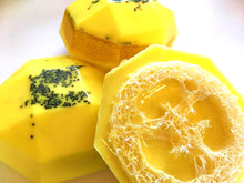 Load image into Gallery viewer, Soap for Mom - Loofah Soap - Lemon Poppy Seed Muffin - FREE U.S. SHIPPING - Loofah Sponge - Exfoliator - Gift for Woman