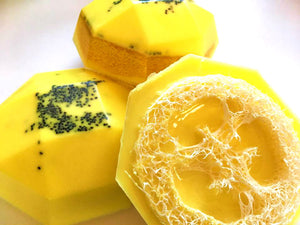 Soap for Mom - Loofah Soap - Lemon Poppy Seed Muffin - FREE U.S. SHIPPING - Loofah Sponge - Exfoliator - Gift for Woman