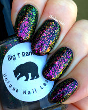 Load image into Gallery viewer, Multichrome Flakie Topcoat - Lake Geneva - Multi-Color Shifting Polish:Custom-Blended Glitter Nail Polish/Indie Lacquer