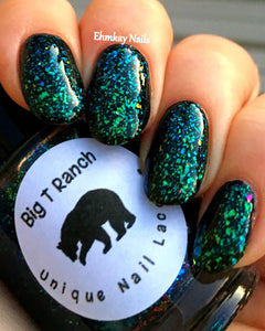 Multichrome Flakie Topcoat - Barcelona Sea - Multi-Color Shifting Polish:Custom-Blended Glitter Nail Polish/Indie Lacquer
