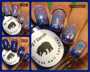 "Color Changing Thermal Nail Polish - ""Starry Night"" - FREE U.S. SHIPPING - Custom Blended Polish/Lacquer - 0.5 oz Full Sized Bottle"
