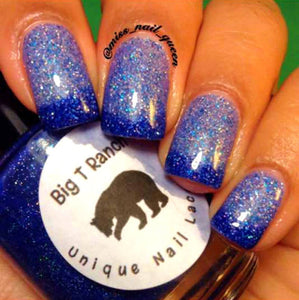 FREE U.S. SHIPPING - Color Changing Nail Polish - Blue Mood Nail Polish - IGLOO - Temperature Changing - 0.5 oz Full Sized Bottle
