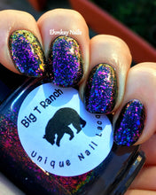 Load image into Gallery viewer, Multichrome Flakie Topcoat - When in Rome - Multi-Color Shifting Polish:Custom-Blended Glitter Nail Polish/Indie Lacquer